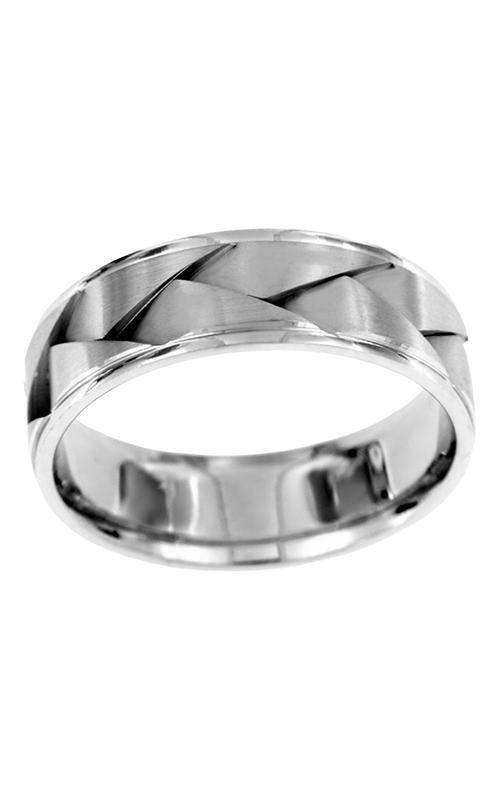 Brilliant Diamonds Bridal Hand Engraved wedding band H0238 product image