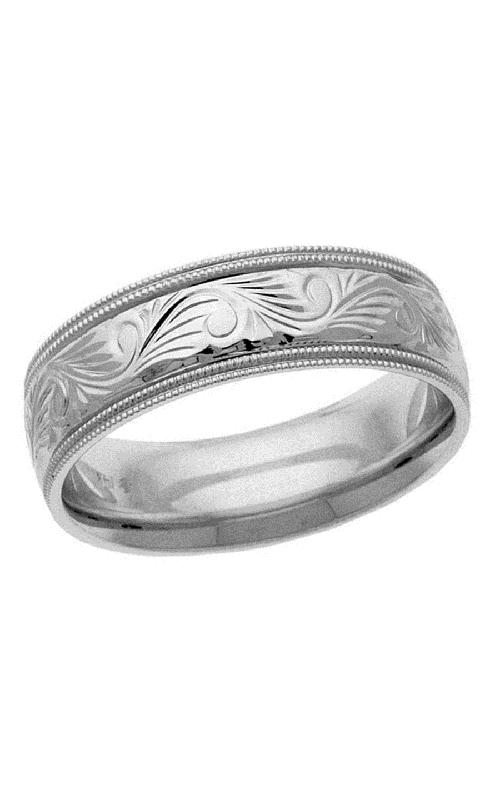 Brilliant Diamonds Bridal Hand Engraved wedding band H1388 product image