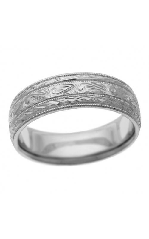 Brilliant Diamonds Bridal Hand Engraved wedding band H3404 product image