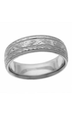 Brilliant Diamonds Bridal Hand Engraved wedding band H3404 product image